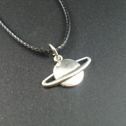 Wholesale Pendants For Short Chains - Newest Short Collars Leather Vintage Alloy Small Planet Pendants Necklaces for Women Men Jewelry 2016