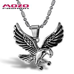 Wholesale Eagles Jewelry - Wholesale-Wholesale 2016 New Hot Sale Fashion Jewelry Eagle Chain Men's 316l Stainless Steel Necklaces & Pendants For Men boys MGX788