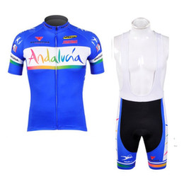 Wholesale Team Kit Wear - andalucia team 2017 cycling jersey set kit short sleeve cycling clothing mtb bike short jersey set summer style bike wear sportswear 24