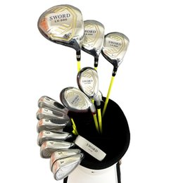 Wholesale Sword Iron - New mens Golf clubs KATANA SWORD LX-880 golf complete clubs set driver+fairway wood+putter+irons graphite golf shaft headcover Free shipping