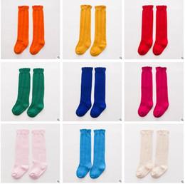 Wholesale Girls Lace Knee Socks - Korea Baby Socks Baby Boy Girl Kids Sock Cotton Lace Knee High Socks Children Middle Lace Socks Footwear Knitted Leg Warmers 3 Size