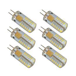 Wholesale 12v Ac Bulb Edison Led - 6-Pack G4 48-LED Daylight Neutral White Light 4000K LED Crystal Bulb Lamps 3 Watt AC DC 12V Non-dimmable Equivalent 20W
