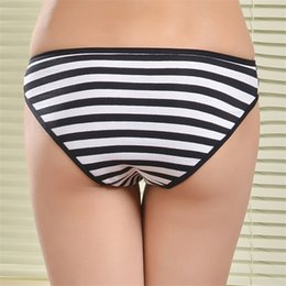 Wholesale Cotton Stripe Panties - Wholesale-Women panties high quality Sexy underwear women briefs thong Real Bow underwear Cotton Stripe Women Underwear Briefs