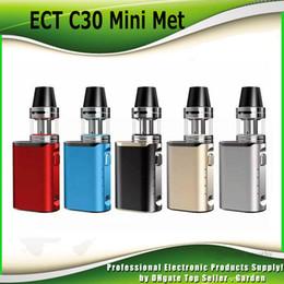 Wholesale Mini Vv Mod - Original ECT C30 Mini Met Starter kit VV 30W Box Mod vape Kenjoy Met atomizer 2ml Authentic vaporizer 1200mah battery 100% Genuine 2237004