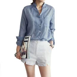 Wholesale Black Linen Blouse - New 2016 Elegant White Women Cotton Linen Blouse Casual Ladies Solid V-neck Blouses Long Sleeve OL Office Shirt Plus Size