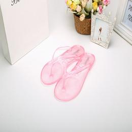 Wholesale Shop Cheap Sandals - Wholesale-Jelly Lady Sandals Elegant Flat Mules Shoes Woman Led Flip Flops Balance Channels Fringe Gladiator Adult Shop Cheap Mule Femme