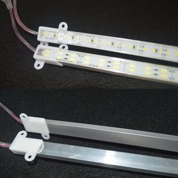 Wholesale light strip cover - Waterproof 5630 SMD 50cm 100cm 72 144LED Hard Rigid Strip Cabinet Bar Light Pure White Warm White With Cover DC12V