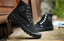 Wholesale Korean Lace Up Boots - High help men canvas board shoes thick bottom casual Korean boots Paala desert Martin boots