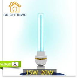 Wholesale Ozone Sterilization - Wholesale-Ultraviolet Lamps UV Ozone Sterilization Lamp 220V 15W 20W Ultraviolet Disinfection Germicidal Lights Lamp for Home E27