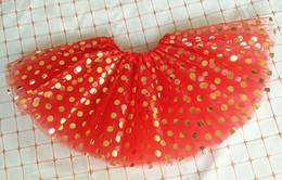 Wholesale Kids Ballet Purple Skirt - 7 Colors Plump Gold Polka Dot Tutu Skirt Baby Kids Dance Skirt Ballet Skirt Children Party Birthday Pettiskirt