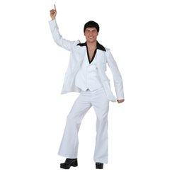 Wholesale Wedding Full Suit Men - Male Performance Clothing Men White Suit Wedding Photography Clothing DS Costumes Uniform Temptation Stage Performance Clothing