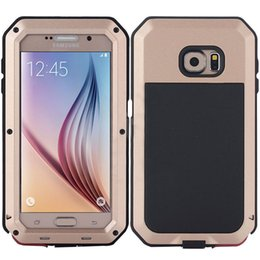 Wholesale Gorilla Glass Case Galaxy S4 - Shockproof Waterproof Power Aluminum Gorilla Glass Protect Phone Cover for Samsung Galaxy S3 S4 S5 S6 S7 Edge Note 4 5