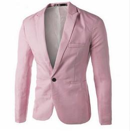 Wholesale Fitted Suits - Men's Clothing Blazer Men One Button Men Blazer Slim Fit Costume Homme Suit Jacket Masculine Blazer Size M-3XL