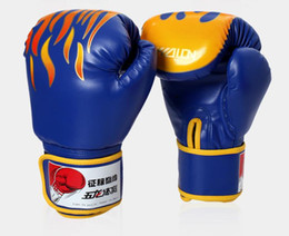 Wholesale Grappling Gloves - Sparring Muay Thai Grappling Kick Boxing Gloves Fire Pattern 3 colors Sandbags Punching gloves Professional thicken Boxing Sports gloves