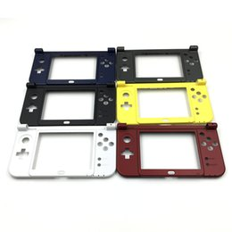 Wholesale Nintendo 3ds Xl Cases - Replacement Hinge Part Black Bottom Middle Shell Frame Housing Case For Nintendo New 3DS LL XL 2015 New Verison DHL FEDEX FREE SHIPPING