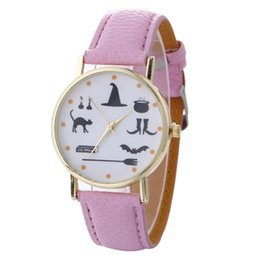 Wholesale Glass Dress Shoes - fashion 2017 new cat shoe bat special printing unisex mens women leather watch wholesale casual ladies student dress party watch