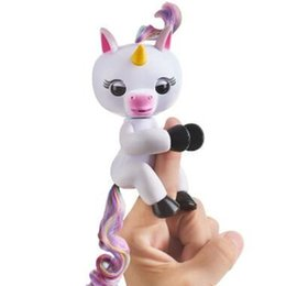 Wholesale Electronic Abs - Fingerlings Interactive Baby Unicorn GIGI Electronic Smart Finger Toys ABS+PVC Christmas Gift for Child Adult Toys