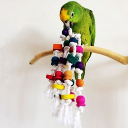 Wholesale Parrot Rope - Hot Sale Bird Parrot Chew Toy Rope Harness Cage Bite Toys Pet Bird Macaw Conure Parakeet Swing Scratcher JJ0205