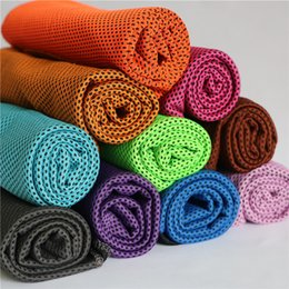 Wholesale Sports Towel Pva - 90*35cm Ice Cold Towel Double Layer Summer Sports Exercise Cooling Towels Hypothermia Cool Quick Dry Washcloth Soft Breathable Cooling Towel