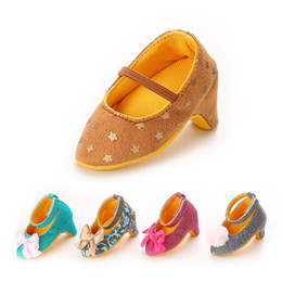 Wholesale Wholesale Clothes Heel - Wholesale- Baby Shoes Cute Baby Girls High-heeled Shoes for 0-6M Newborn Photo Props Accessories Baby Clothing Sale