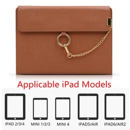 Wholesale Design Cases For Ipad - Tablet PC Smart Cover Case Fashion PU Leather Handbag New Design Shockproof UNBreak Stand Holder Case for IPAD 2 3 4 MINI4 mini1 2 3