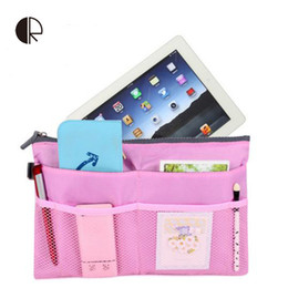 Wholesale Travel Insert Pockets - Wholesale- Hot Fashion Ipad Iphone Makeup Handbags Cosmetic Travel Bags Organizer Insert with Pockets Storage cases BH105