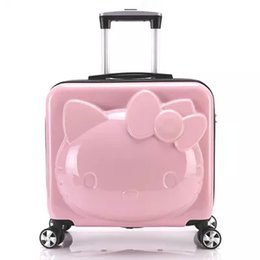 Wholesale Children Luggage - 2017 new girl baggage, Hello Kitty suitcase, children trolley case, luggage cart, cartoon single and suit