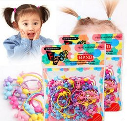 Wholesale Colorful Hair Elastic - Baby Hairbands Elastic Hair Bands Star Headband Colorful Ring Girls Hair Accessories Headband Free Shipping 1000p