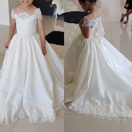 Wholesale Toddler Girl Bridesmaid Dresses - Flower Girl Dress Children Bridesmaid Toddler Elegant Dress Pageant