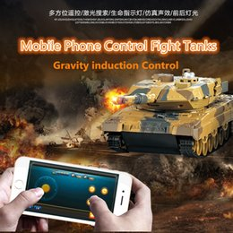 Wholesale Toy Tank Battle - Wholesale- Kids gift new HuanQi H500 1 36 RC Battle Tank With Smart Phone Bluetooth Controlled Gravity Sensing Commander Series Rc Toy