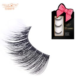 Wholesale Mink Tool - 3 Pairs 3D Handmade Natural Soft Mink False Eyelashes Quality Thick Fake Lashes Extension Makeup Tools 3D-1-1