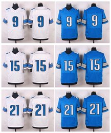 Wholesale Mens Elite Style Stitched Llons Blank STAFFORD TATE ABDULLAH Blue White football jerseys