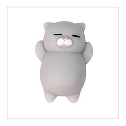 Wholesale Cute Cat Keychains - Bestselling Cat Squishy Cute Kawaii Squishies Squeeze Stretchy Animal Phone Charms Healing Stress Reliever Fidget Toys Cellphone Case DHL