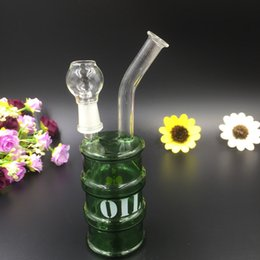 Wholesale Can Bottle - 2016 newest OIL Can Bong bottle Glass Water Pipe Smoking pipes oil rig Smoking Glass Water bong