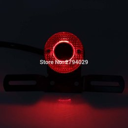 Wholesale Motorcycle Led Tail Light Brake - Personalise Universal LED Red Lens Rear Brake Tail Light with License Plate Bracket for Most of Motorcycle Custom Free Shipping