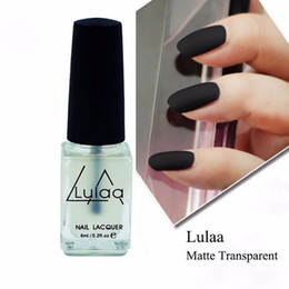 Wholesale Super Matte Nail Polish - Wholesale- Amazing Super Matte Nail Polish Transparent Nails Art Gel Frosted Surface Oil Nail Polish 6 ML TF
