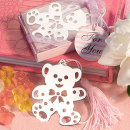 Wholesale Christening Favours - Bluk Home Creative Party Favors bear Teddy Bookmark - Baby Shower Christening Gift Party Wedding Favour free shipping