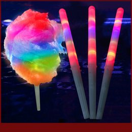 Wholesale Plastic Latex - 28*1.75CM New Kid Favor Colorful LED flashing cotton candy stick,light up novelty glow party cheering stick for concert bar ..