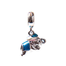 Wholesale Pandora Cross Charm New - 2017 New Special Offer Authentic 925 Sterling The Flying Elephant & Enamel Dangle Charms Fit pandora European Bracelet Necklace Jewelry