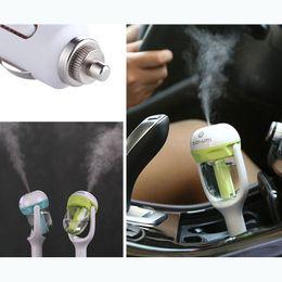 Wholesale 12v Car Air Freshener - 12V 4 colors Nanum Mini Auto Car Aerosol Spray Humidifier Air Steam Purifier Freshener Aqueous Aromatherapy Essential oil Diffuser for Cars