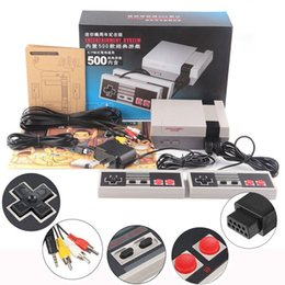 Wholesale Handheld Game Dhl - Mini TV Video Handheld Game Console Players Video Games Consoles Built-in 500 Classic Games For Nes Classic Games PAL&NTSC DHL