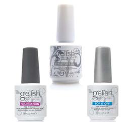 Wholesale Nails Art Polish - Harmony Gelish Nail Polish STRUCURE GEL Soak off Clear Nail gel LED UV Gel Polish TOP it off and Foundation nail art frence nails