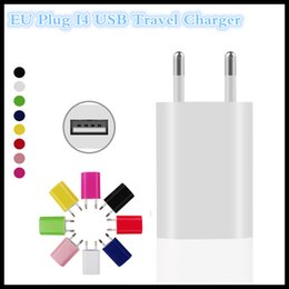 Wholesale Iphone 5c Usb Wall Charger - Factory EU Plug USB Wall Charger USB AC Adapter 5V 1A Travel Charger for iPhone 5 5S 5C Samsung S6 S5 LG HTC