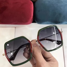 Wholesale Brand Inspired - Hot Inspired 0106  S Green Red Gold Metal Sunglasses Fashion Brand Sunglass with hard box