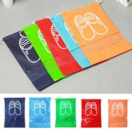 Wholesale Storage Cover Clothes - Drawstring Beam pockets shoes storage bags Travel Accessories Storage Shoes Bag Portable Cover Shoe Pouch Bag 5 color 2 size KKA2173