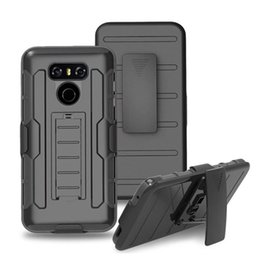 Wholesale Phoenix Bodies - Full Body Case Cover for LG G6 LV3 Aristo Phoenix 3 MS210 LV5 K20 V Plus K8 K10 2017 Shockproof Protective Shell with Kickstand & Belt Clip