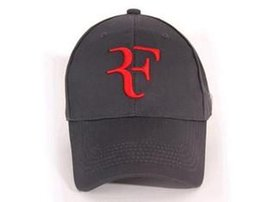 Wholesale Federer Racket - Wholesale-2015 new Summer Unisex Cap Baseball Cap Roger Federer RF Hybrid Hat   tennis racket hat cap tennis racquet