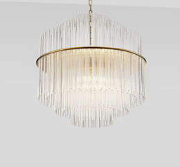 Wholesale clear glass for pendants - D50  68CM Clear Glass Bar Chandelier Pendant Lamp Suspension Lighting Fixture for Restaurant Bedroom Study Hotel Dining Room LLFA
