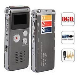 mejor grabadora de voz mp3 Rebajas Grabadora de voz digital de 8GB Multifuncional recargable de 650HR grabación de reducción de ruido inteligente HD grabación de MP3 pluma de grabación digital clásica