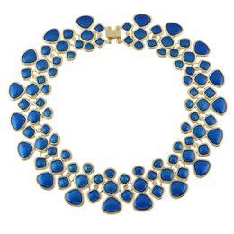 Wholesale Necklace Female - New Fashion Boho Jewelry Statement Necklace Gold Color Alloy Multicolor Enamel Bib Choker Necklace Collar Female